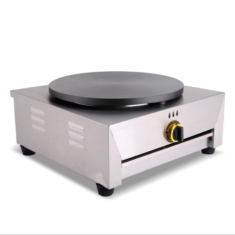 2017 commercial use single head gas Crepe Maker,pancake oven,40 CM pancake griddle stove,gas rotary furnace Pancakes maker