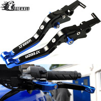 Motorcycle Aluminum Extendable Handlebar Grips Adjustable Folding Brake Clutch Levers For YAMAHA XT660 R X XTZ750 Super Tenere