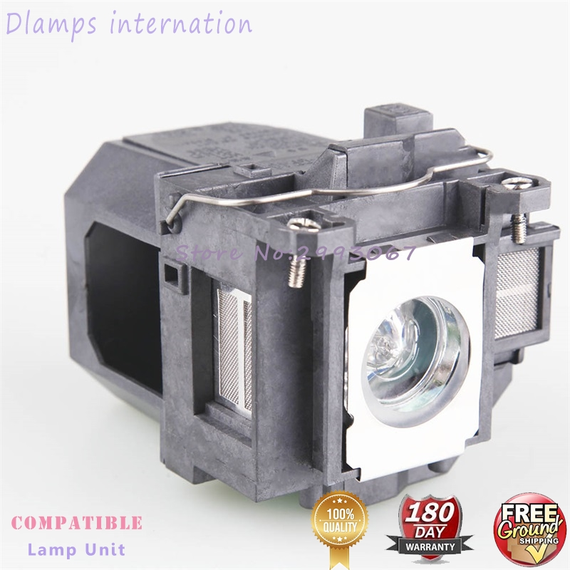 Free Shipping ELPLP57 V13H010L57 Replacement Projector Lamps with Cage For Epson EB-440W  EB-450W  EB-450Wi EB-455Wi EB-460