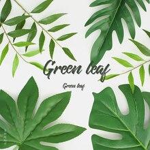 Feuilles simulées de haute qualité plante feuille verte photographie arrière plan Photo Studio de tournage arrière plan décoration articles fotografia