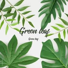 Wysokiej jakości symulowane roślina liściasta zielony liść fotografia tło mini studio fotograficzne dekoracja tła przedmioty fotografia