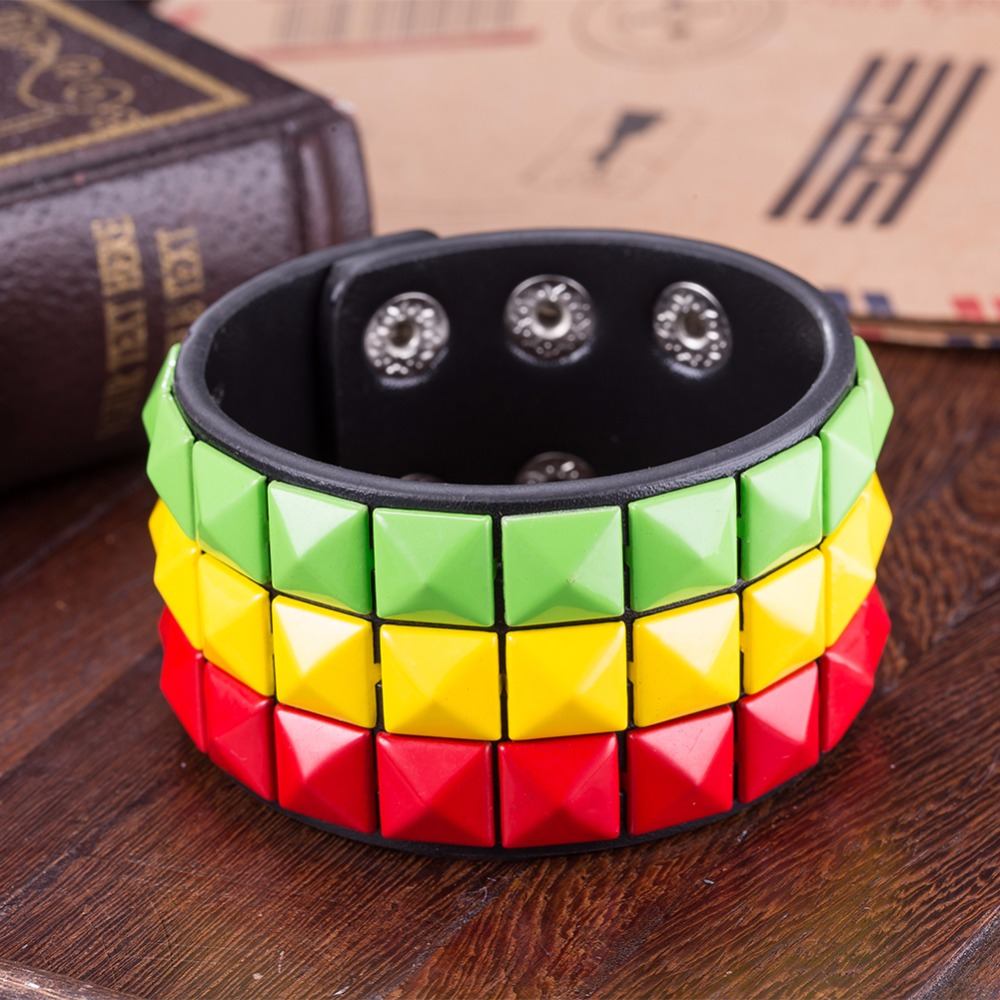 Female Red Yellow Green 3 Colors Pixels Puzzle Big Wide Charm ...