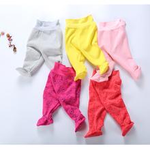 Spodnie dla niemowląt zimowe grube ciepłe dziecięce legginsy dla dzieci noworodka spodnie dla niemowląt chłopcy dziewczęta spodnie polarowe ubrania dla dzieci noworodka spodnie dla dzieci tanie tanio Bloom Baby COTTON Moda Elastyczny pas Wysoka Pasuje prawda na wymiar weź swój normalny rozmiar Pełnej długości Stałe