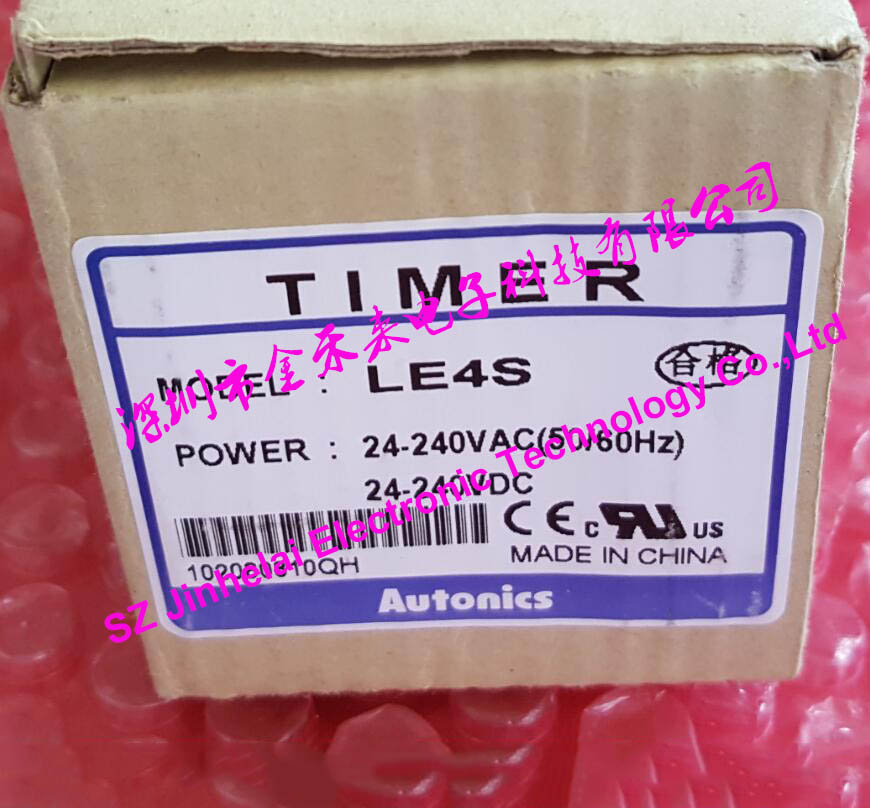 Autonics LE4S New and original TIME RELAY 24-240VAC/DC 100% authentic original le4s autonics time relay timer
