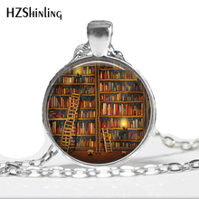 Library Book Case NecklaceVintage Style Gift for Students Teachers and Librarians Necklace ,Old books necklace timothy w cole myung ja kim han xml for catalogers and metadata librarians