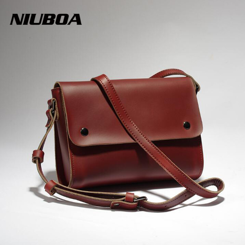 Genuine Leather Bags For Women Flap Vintage Natural Leather Shoulder Bag Ladies Crossbody New Handbag Female Shopping Bag