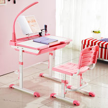 High quality adjustable height protection vision correcting sitting posture children learning desk and chair set writing desk(China)