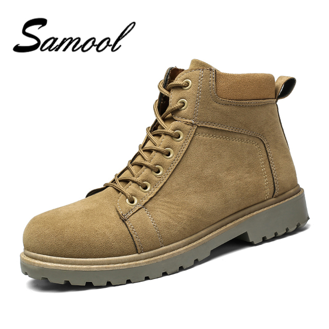 df0789fed49 US $49.98  2018 New Arrival Spring Autumn Boots Men Suede Leather Unisex  Style Fashion Male Work Shoes Lover Martin Boot Size 39 44 JX5-in Work & ...