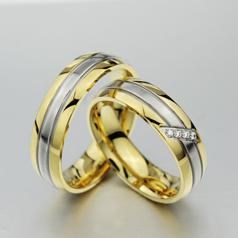 2017 Clic Fashion 18k Gold Rings For Men Women Engagement Ring Wedding In From Jewelry Accessories On Aliexpress Alibaba Group