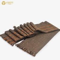 Hongkong Yopota Wool Lady Scarf Long Autumn Winter Stripe Grid Keep Warm All Match Dual Purpose