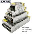 DC 12 V tira de LED controlador de adaptador 1A 2A 3A 5A 10A 20A 30A interruptor fuente de alimentación AC110V-220V 24 V transformador de potencia 60 W 78 W 120 W