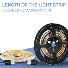 LED Strip Waterproof USB TV Light Night Lamp 5V Cabinet Tape Wardrobe Bias Lighting 50cm 1m 2m 3m 4m 5m