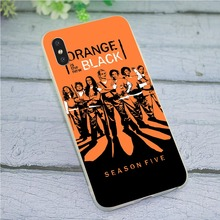 Print Soft TPU Silicone Cover for iPhone 6 Orange Is the New Black Phone Case Plus 6S 7 8 X Xs Max XR 5 5S SE Skin