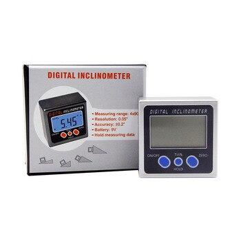Digitale Winkel Gauge Winkelmesser Neigungs Kunststoff Bevel Box Level Meter Winkel Finder Mit 2 Eingebaute Magneten Basis In Boden
