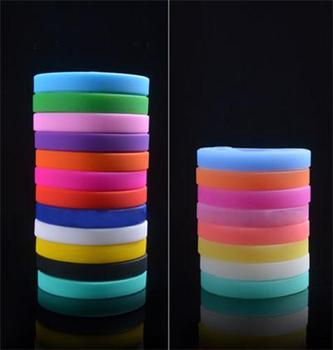 Unisex Cuff Bracelet  Bangle For Women Men Colorful Trendy Silicone Rubber Flexible Wristband Wrist Band