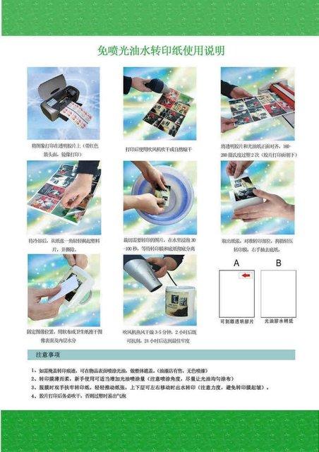 Inkjet water transfer printing paper for MUGS