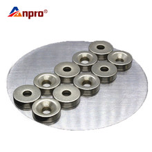 Anpro Hole Small Round Magnet Super Strong Magnet Permanent Strong Magnet Piece Round Magnet For Craft Gallium Metal(China)