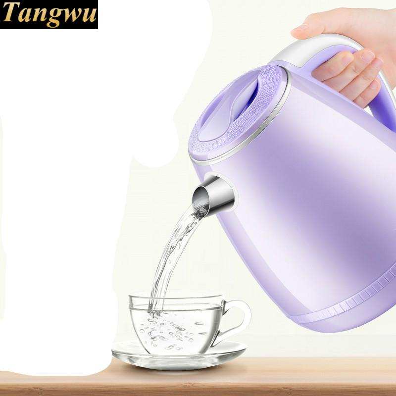 electric kettle used prevent flask 304 stainless steel Safety Auto-Off Function electric kettle used to prevent automatic power failure stainless steel kettles safety auto off function