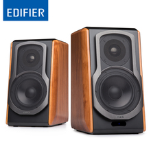 EDIFIER S1000DB Ultra-stylish Bookshelf Speaker Home Theater Party Speaker Sound System with 4″ Bass Driver Front Facing Bass