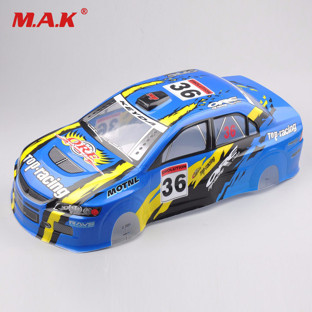 PVC DIY RC Accessories Painted Body Shell 190MM Width Blue Color For 1/10 RC Model On Road Drift Racing Car 030B yukala 1 10 rc car parts pvc painted body shell 1 10 190mm s016w 2pcs lot free shipping