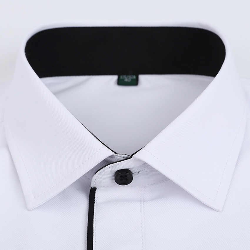 HCXY 2019 camisas de carga para hombres camisa de vestir para hombres ropa de trabajo rayas diagonales borde negro camisa de manga larga rayas finas para hombres