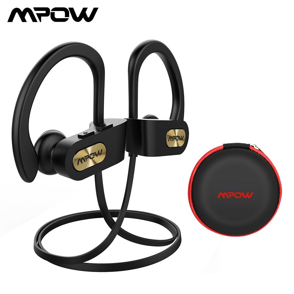 Mpow Flamme Bluetooth Casque IPX7 Étanche Sans Fil Casque Handsfee Sport Écouteurs Avec Micro Et 7 H Temps de Jeu Pour Téléphone