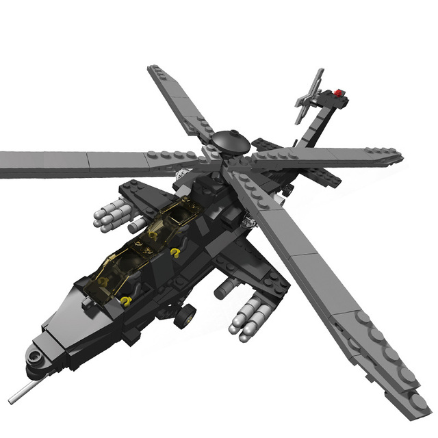 Magical Military Toys Plastic Blocks Model Model Building Armed Helicopters 10 Toys & Gifts Classic Collection
