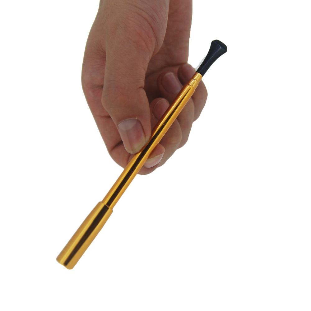1pc Metal Golden Color Long Slim Retractable Cigarette ...