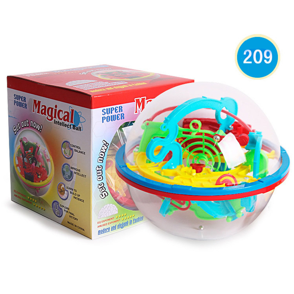 Kids Boy Girl Fun Novelty Anti-stress Toy Gift 100 Barriers 3D Labyrinth Magic Intellect Ball Balance Maze Perplexus Puzzle Toy