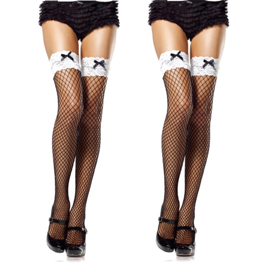 Sexy1 PairSexy Lace Fishnet Thigh High Women Solid Standard Woman 2018