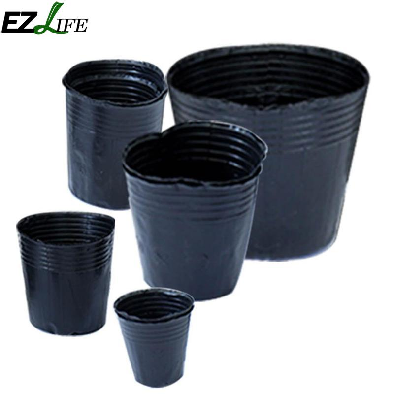 100pcs Lot Nursery Pot Plastic Box Garden Container Grow Bag Supplies Pgg8290