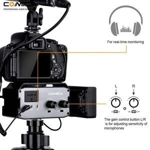 Image 3 - Comica CVM AX3 XLR Mixer Audio Adattatore Preamplificatore Dual XLR/3.5 millimetri/6.35 millimetri Porta Miscelatore per Canon Nikon fotocamere REFLEX Digitali e Videocamere