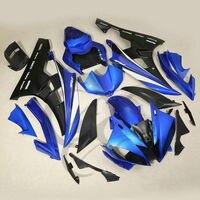 Синий черный ABS Пластик обтекатель КУЗОВ для Yamaha YZF R6 YZF-R6 2006-2007 17a