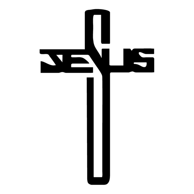 hotmeini jesus cross car window decal car sticker truck bumper boat