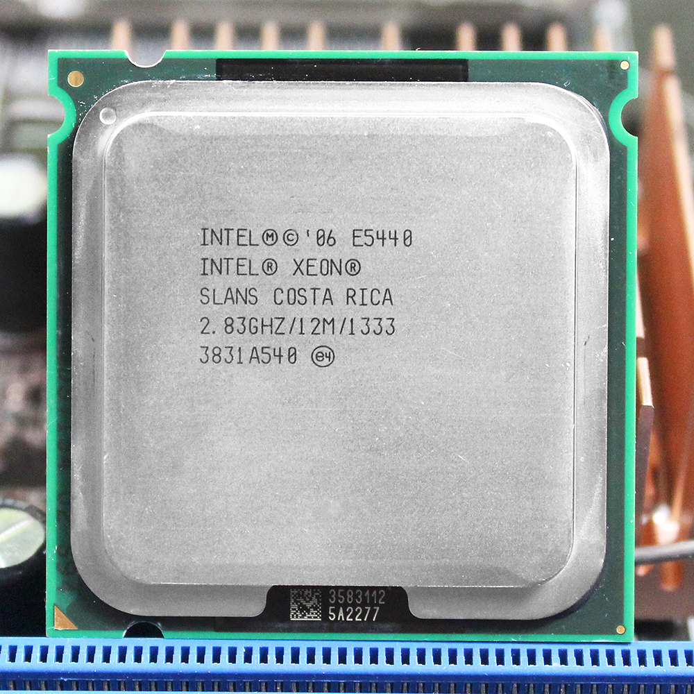 INTEL XEON E5440 CPU INTEL E5440 LGA 775 procesador (2,83 GHz/12 MB/1333 MHz/Quad Core) CPU en g41 LGA775 placa base