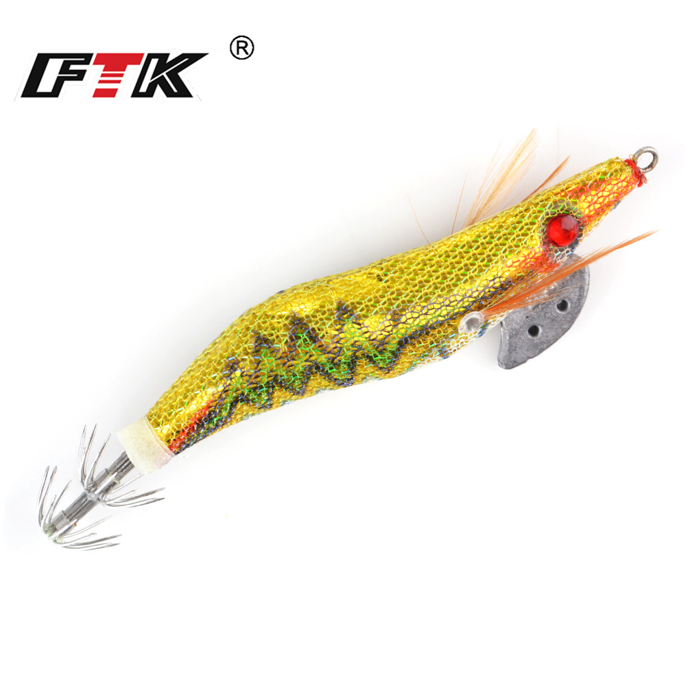 FTK Fishing Lure Hard Bait Fake Shrimp Wood Bait Fishing Wobbler Squid Jig 1pc/lot Artificial Lure jigging Lure Octopus Bait 624 fishing lure wood pencil bait 120g 24cm floating sea fishing bait laser painted boat fishing lure 1 pcs lot