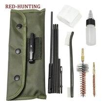 Пистолет Набор для чистки винтовки пушка Cleaning Kit Набор Портативный Чистый Комплект принадлежности для 5,56 мм. 223. 22 Cal