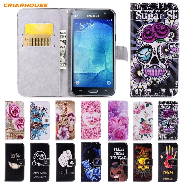 release date c9921 cb7d4 US $1.81 14% OFF|Wallet Leather Flip phone Case For Samsung Galaxy J7 2015  J700F J7 Neo J701F J7 NXT J701M J7 PRIME 2017 2016 Funda Cover 2018-in ...