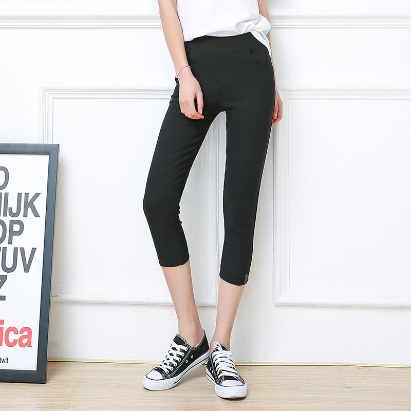 Big Size Womens Clothes Summer Casual Calf-Length Pants Women Leggings Plus Size 5XL 6XL Slim Obese Femme 150kg Pencil Pans