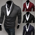 Горячая распродажа мужчин свитер 2016 свободного покроя тонкий кардиганы британский стиль шерстяные свитера для мужчин бесплатная доставка PPY02