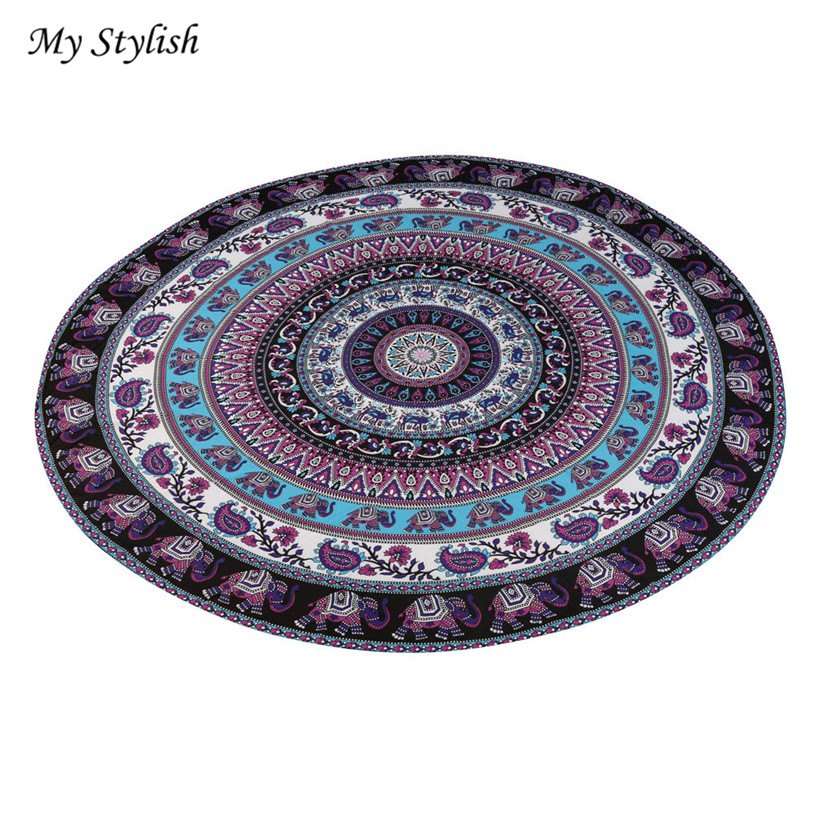 Stylish Hot Sale 2017 Durable Round Beach Pool Home Shower Towel Blanket Table Cloth Mat High Quality Jan 6