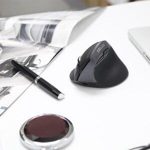 Image 5 - Delux M618 Mini souris ergonomique de jeu sans fil souris verticale Bluetooth 2.4GHz rvb Rechargeable souris silencieuse pour le bureau