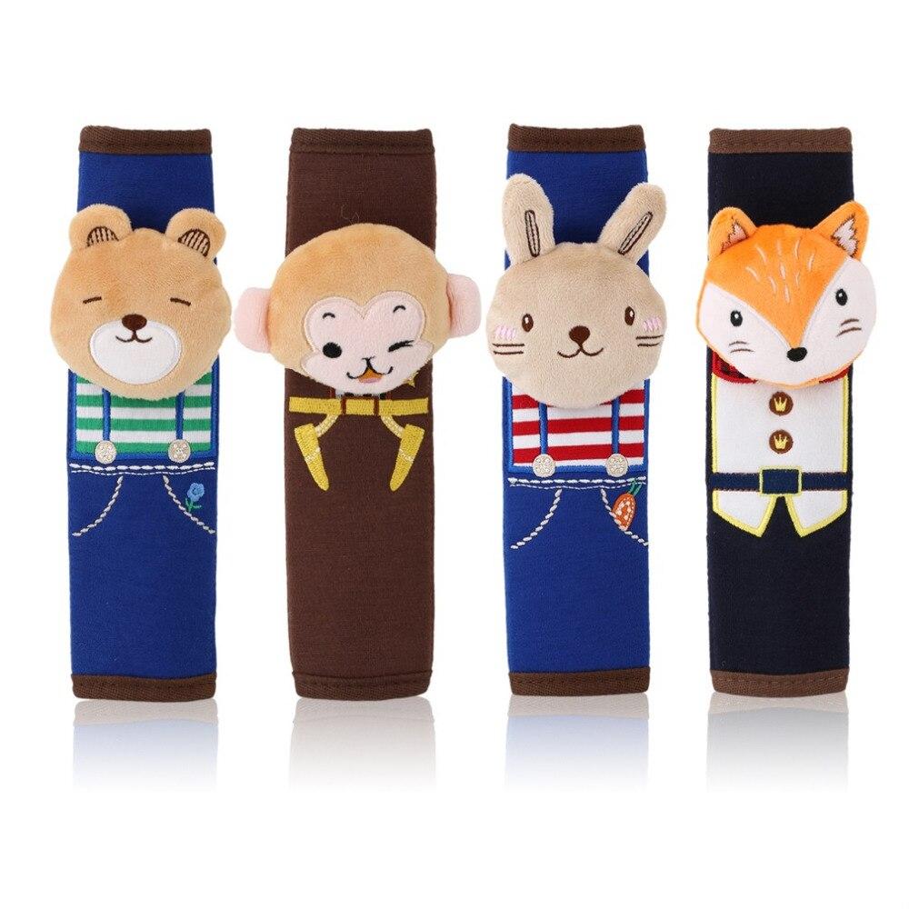 Children Kids Girl Lady Cute Cartoon Seat Safety Belt Pad Car Suv Truck Monkey Bear Rabbit Fox Belt Shoulder Protector Universal
