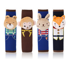 Children Kids Girl Lady Cute Cartoon Seat Safety Belt Pad Car Suv Truck Monkey Bear Rabbit Fox Belt Shoulder Protector Universal(China)