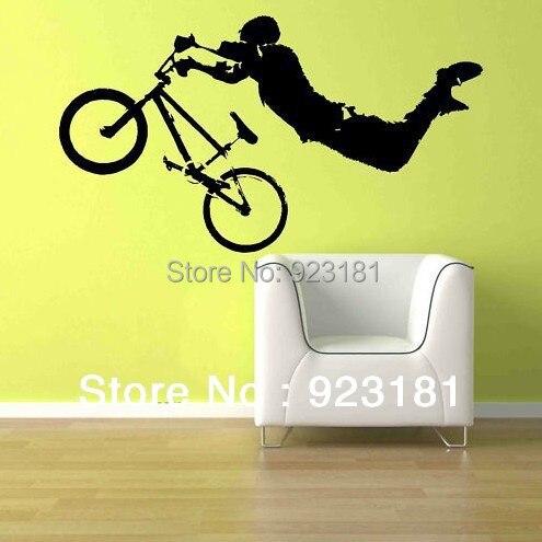 Boy giant bmx bike bicycle wall art stickers decal home diy decoration