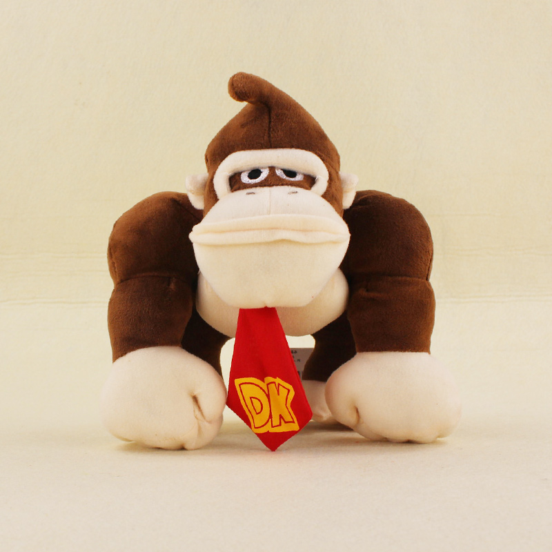 20cm Super Mario Bros Monkey Donkey Kong Soft Stuffed Plush Toys Dolls Kids Gifts 20cm super mario bros monkey donkey kong soft stuffed plush toys dolls kids gifts