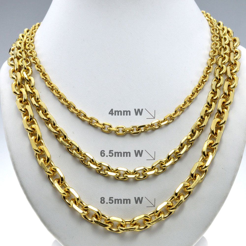 Men trendy chains necklace n248