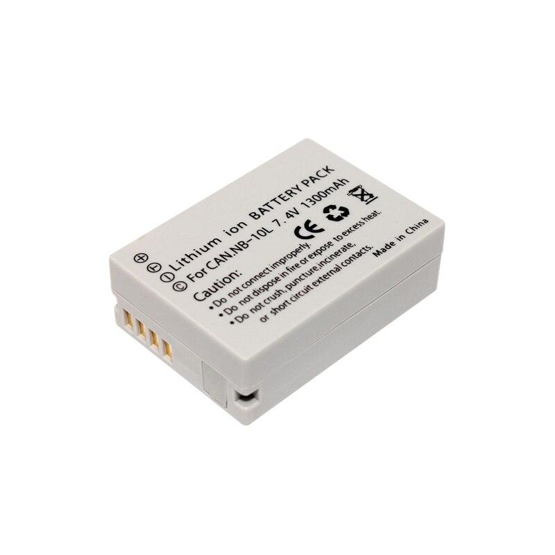 4x NB 10L NB10L NB 10L Digital Camera Battery Pack + LCD Charger for Canon G1X G15 G16 SX40HS SX50HS SX60HS SX40 SX50 SX60 HS