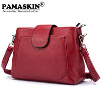 PAMASKIN Brand 2018 New Arrivals Fashion Preppy Style Large Capacity Premium Real Leather Women Bags Messenger