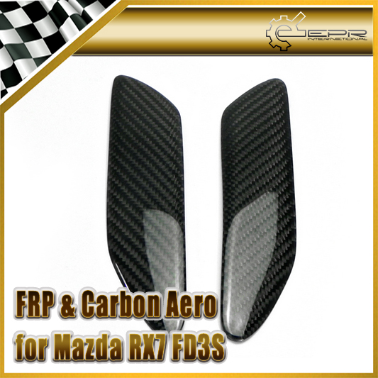 Car-styling For Mazda RX7 FD3S Carbon Fiber MS Mazdaspeed Style Rear Spoiler End Cap Glossy Fibre Trunk Wing Accessories